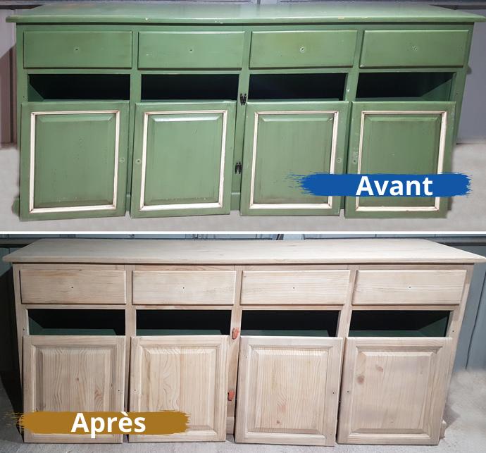 décapage meuble bois, entreprise sablage, Perpignan, Aerotech66
