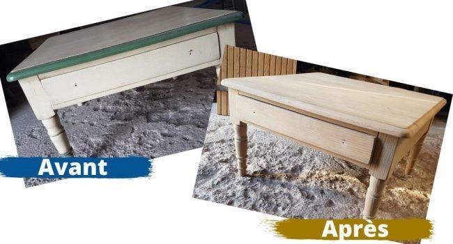 Décapage; sablage, aérogommage meuble bois, renover un meuble en pin, entreprise décapage bois, Perpignan, Aerotech66