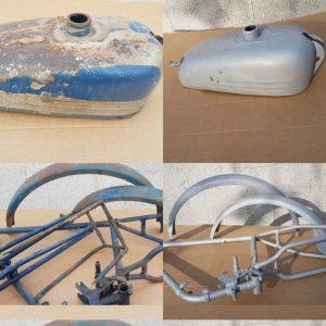Décapage par aérogommage de motocycle, Perpignan, 66, Pyrénées-Orientales, Aerotech66