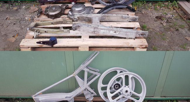 Décapage, sablage, nettoyage, microbillage, cadre moto, aerogommage, Aerotech66, Perpignan, Pyrnées-Orientales 66