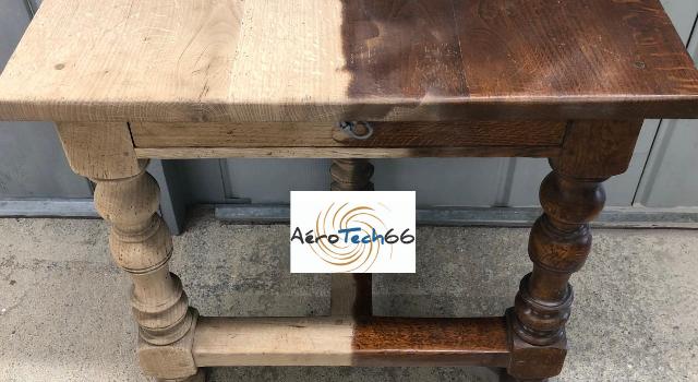 Décapage meuble bois massif Perpignan Aerotech66