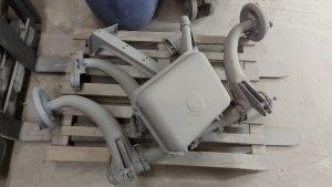 Décapage par aérogommage de diverses pièces de 2 CV, Perpignan, Aérotech66